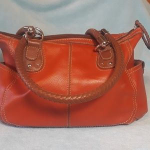 Relic silver Hardware rust-colored bag